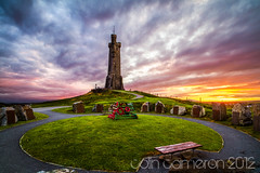 181/366 - War Memorial Sunset (Colin Cameron ~ Photography ~) Tags: sunset scotland colours 365 warmemorial isleoflewis 366 colincameron canon7d tamron1024mm 2012365 2012366