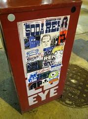 sewer combo (OMLET.OPAL) Tags: street chicago art graffiti stickers ren soda gender combos slaps rubert