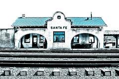 Santa Fe Depot II (Hylas) Tags: newmexico santafe train depot santaferailroad canon50d