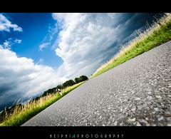 one day on freeway (*HEIPHI*) Tags: street sky white black green nature field clouds landscape nikon details feld himmel wolken sigma freeway grn landschaft teer strase d5100 heiphi