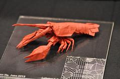 Jason Ku- Lobster (blue paper) Tags: new york nyc usa art origami convention fold folding 2012 ousa