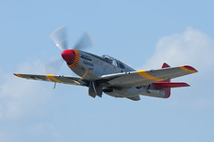 Tuskegee Airmen P 51 Mustang Red Tail (Moore Natural Shots) Tags: plane airplane nikon indiana mustang nikkor redtail angola p51 p51mustang fighterplane tuskegee tuskegeeairmen balloonsaloft d300s afsnikkor300mmf4