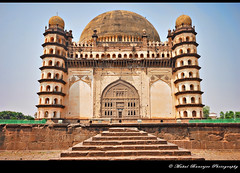 Gol Gumbaz -4, Bijapur, Karnataka (Mukul Banerjee (www.mukulbanerjee.com)) Tags: world light india heritage history classic tourism archaeology monument beautiful architecture photography photo ancient nikon asia arch pics indian south muslim islam traditional tomb wide mahal arches mosque tourist retro worldheritagesite photographs empire burial historical tradition dslr karnataka masjid wonders emperor medival bharat islamic worldheritage southindia southasia adilshah 1541 d60 sigma1020mm northkarnataka historicindia bijapur wondersoftheworld golgumbaz banerjee historicalindia nikond60 indianheritage ibrahimrauza hindusthan medivalindia bymukulbanerjee mukulbanerjee mukulbanerjee  mukulbanerjeephotography mukulbanerjeephotography wwwmukulbanerjeecom wwwmukulbanerjeecom