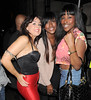 Cassie Donnie Valenti, Alexandra Burke and Sheneice Burke enjoy a night out at Aura nightclub. London, England