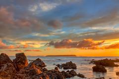 Endless Dream... (Ankit_) Tags: longexposure sunset newzealand sky seascape beach nature canon landscape bay coast rocks flickr nz wellington redrocks northisland coastline southcoast hdr cpl plimmerton topaz porirua nd8 eos450d 1855kitlens 450d ihdr