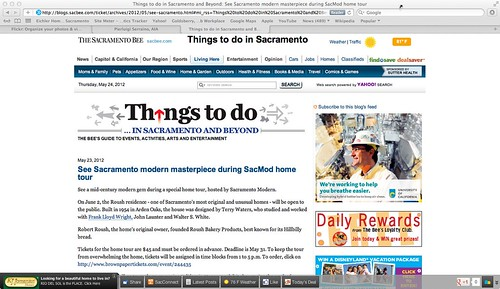 Sacramento Bee: Things to do. May 23, 2012