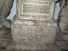 Wales, Ruabon (jmc4 - Church Explorer) Tags: church monument wales evans wynn effigy wynnstay clwyd eyton thelwall ruabon