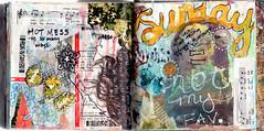 Art Journal Pages 7.15.12 (Jenndalyn) Tags: moleskine collage mixedmedia sketchbook messy doodles artjournal