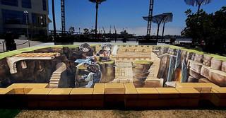為SDCC創作的樂高3D街頭繪畫