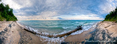Lake Michigan ... Bent Log Beach (Ken Scott) Tags: panorama usa beach sand waves michigan lakemichigan greatlakes 2012 freshwater voted leelanau pyramidpoint fhdr sbdnl sleepingbeardunenationallakeshore mostbeautifulplaceinamerica kenscottphotography kenscottphotographycom