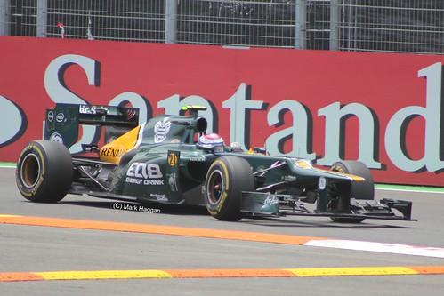 Vitaly Petrov in his Caterham at the 2012 European Grand Prix in Valencia