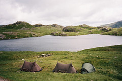Exhale (Bazzerio) Tags: england mountain lake film landscape paul photography tents kodak lakedistrict dream hike adventure explore bailey t5 wilderness portra yashica feature wildcamping tumblr bazzerio