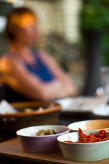 204/365 (TheGriefmeister) Tags: canon 50mm dof tomatoes meal 7d dining 365 alfresco project365 204365 elementsorganizer