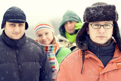 Friends (Khuroshvili Ilya) Tags: winter friends portrait people art face canon 50mm unusual portfolio emotional 2008 atmospheric nvbr nvbr11
