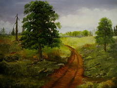 Country Road  -oil