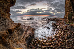 Rocky Beach (Justin in SD) Tags: ocean sunset seascape beach water rock canon landscape coast rocks waves pacific dusk wave canon5d hdr rockybeach sunsetcliffs canon5dmarkiii 5d3 5dmark3