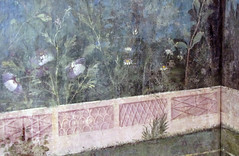 Painted Garden, Villa of Livia, detail with receding wall