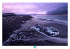 Icy beach round 2 (darkshine231) Tags: icybeach iceland joklsrln ice sunset view landscape fuji fujifilm xpro2 cloud atmosphere seascape blackbeach pebble