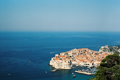Dubrovnik (alekspaunic) Tags: nature architecture canon boats view infinity horizon culture croatia roadtrip citywalls canona1 oldtown dubrovnik analogphotography adriaticsea naturelovers filmphotography shadesofblue archilovers
