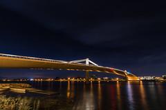 AMP_7444_1 (Amparo Hervella) Tags: night arqchitecture puente bridge deltebre tarragona espaa spain nocturna paisaje landscape ro river estrella star largaexposicin longexposure d7000 nikon nikond7000 comunidadespaola wewanttobefree