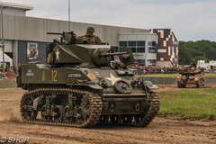 M5 Stuart, Tank Fest 2016, Bovington Tank Museum (harrison-green) Tags: tank fest 2016 bovington museum armour armor vehicle canadian army land forces armed day military canon eos 700d sigma 18250mm outdoor leopard 2 a4 dutch royal netherlands car shgp steven harrisongreen valentine british world war two ii britain england africa north libya tunisia afrika korps infantry matilda 1 one i comet cromwell cruiser light stuart m3 m5 m3a1 m5a1 reconnaissance