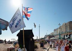 Brighton seaside sensory overload (Scotty H..) Tags: i360 sun unionjack brighton seaside jelliedeels observationtower people scottyh