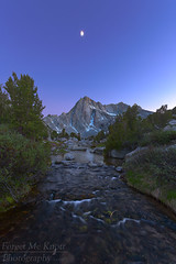 In Between Light (Forget Me Knott Photography) Tags: brianknott fmkphoto forgetmeknottphotography sierra sabrinabasin picturepeak peak mountain moon twilight sunset sunrise johnmuirwilderness bluehour purple blue river stream creek light glow night snow