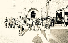 London, 2016 (gregorywass) Tags: people westminster abbey outdoor street city london monochrome bw exposure crowd group 2016 summer july