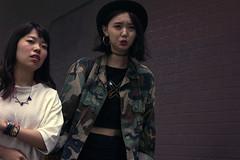 couture (edwardpalmquist) Tags: harajuku shibuya tokyo japan travel city street urban fashion people girl woman camouflage hat jewelry outdoors brick