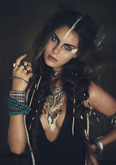 She who dares wins (Anastasia Vervueren) Tags: warrior tribe ethnic makeup fashion tribal photography portrait