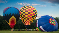 Clouds Departing - Balloons Rising (Laurie-B) Tags: 2016greatchesapeakeballoonfestival cordova easternshore maryland northamerica talbotcounty triplecreekwinery usa hot air balloon festival ballooning outside flying flame burn explored dpca