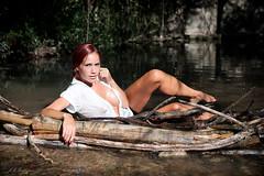Marta (labuelo) Tags: woman model river water retrato portrait pelirroja redhair mujer modelo rio exteriores nikon