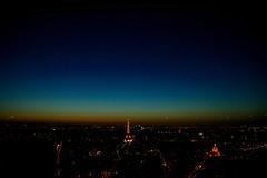Eiffel Tower at nightfall (ayeupmeduck) Tags: eiffel tower nightfall dusk tour montparnasse paris france
