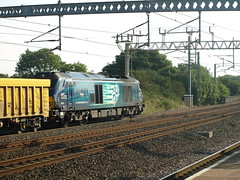 "Direct Rail Services Class 68 68021 ""Tireless"" trundles through Tamworth (Oz_97) Tags: tamworth directrailservices 68021 tireless"