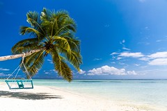Blue (icemanphotos) Tags: holiday travel sky seascape solitude loungers sunbed maldives amazing best top most view palmtree