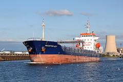 'Muzaffer Bey' Ellesmere Port 14th August 2016 (John Eyres) Tags: muzaffer bey passing ellesmere port outbound from runcorn docks 140816 manchestershipcanal