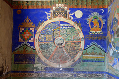 Wheel of Life, Thikse Gompa (dave beere) Tags: india ladakh buddism buddah monastery gompa