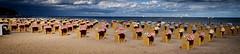 Strandkrbe (Smo42) Tags: ostsee travemnde meer strand strandkrbe sand himmel wolken panorama sonya58 sal1650