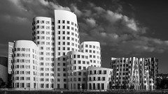 [Explore 2016-08-27] Media Harbour Dsseldorf - Architect: Frank Gehry (stefanfricke) Tags: blackwhite gehry dsseldorf medienhafen mediaharbour sony ilce6000 a6000 zollhof