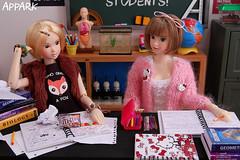 Back 2 School: A Lizzy 'n' Hermione Short 3 (APPark) Tags: dolls dioramas 16scale school momokos lacymodernist preppygirl books classroom