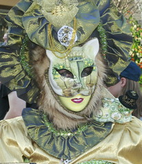 the green cat (hatschiputh) Tags: venezianischemesse venezia ludwigsburg lady cat