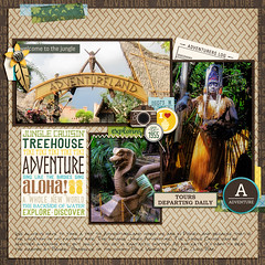 Adventureland Cover (girl231t) Tags: 04year 0scrapbooking 2015 zzmyscrapbookpages 0photos scrapbook layout 12x12layout digi disney disneyland projectmouse