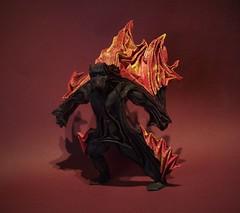 Balrog (edg82) Tags: balrogofmorgoth gothmog durinsbane origami flames fire fold paper red yellow black shadow monster