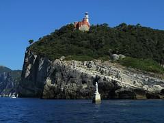 Stella Maris (FedeFli) Tags: sea island water sun lighthouse lerici ligury italy