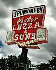 Spumoni (Pete Zarria) Tags: illinois icecream eat pastry sign neon clouds
