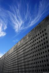 Monumento Memorial Malvinas en el balneario El Cndor (Erik Schepers) Tags: patagonia rio negro argentina viedma balneario condor sky blue minimal minimalistic minimalism islas malvinas falklands memorial