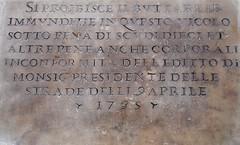 Divieto. (1735) (GiannLui) Tags: roma lapide divieto immondizie 16agosto2016