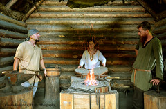 In the Forge (Hrafn Photography) Tags: carpathiantroyedd ehd europeanheritagedays europejskiednidziedzictwa historicalreenactment nikond7100 openairmuseum slav vikingagereenactment