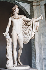 Apollo statue (chrisdingsdale) Tags: statue apollo greek rome day medieval monument historical capital vatican marble roman papal palace antic sculpture italy classic art ancient old antique outdoor style museum