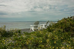 Still Feels Like Summer (Bud in Wells, Maine) Tags: kennebunk maine chairs coast view newengland